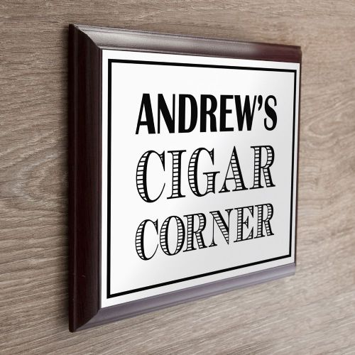 Personalised Art Deco Cigar Corner Plaque